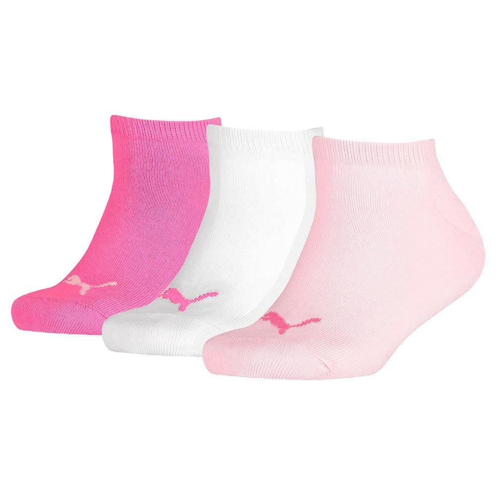 Strumpor från Puma till barn i 3pack. Strumporna har en puma logo i fram på strumpan. färgerna finns i cerise, rosa och vit.