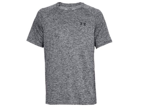 Under Armours lätt och avslappnande tränings t-shirt. T-shirten är grå och har ett litet mörkt tryck av Under Armours logo.