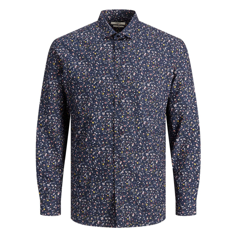 Jack & Jones Graduation Shirt Floral blå fram