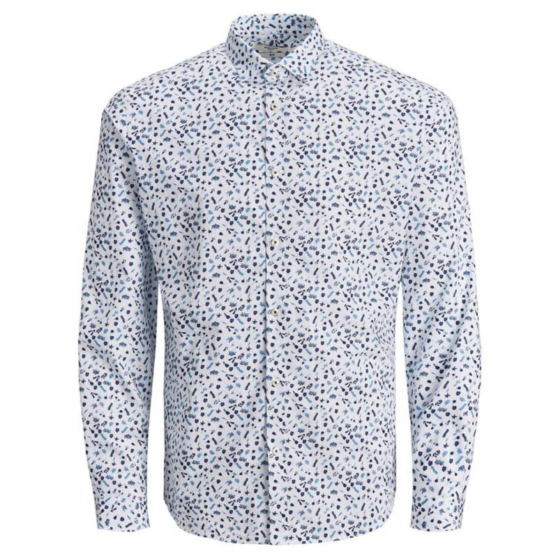 Jack & Jones Graduation Shirt Floral vit fram