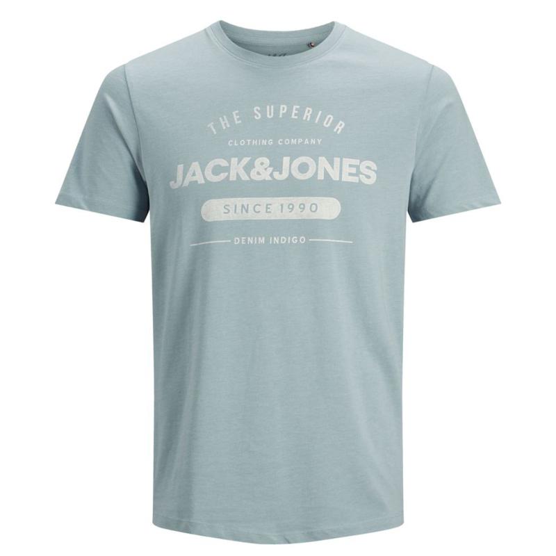 Jack & Jones Ss Logo Tee blå fram